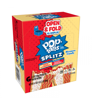 Pop Tarts Splitz Frosted Strawberry & Cheesecake 12-Pack (6 x 2 Toaster Pastries) - 21.1oz (600g) Food and Groceries