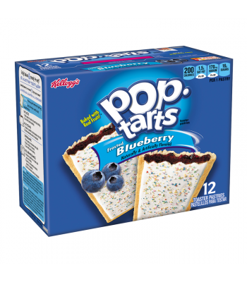 Pop Tarts - Frosted Blueberry 12-Pack (6 x 2 Toaster Pastries) - 22oz (624g) Toaster Pastries Pop Tarts