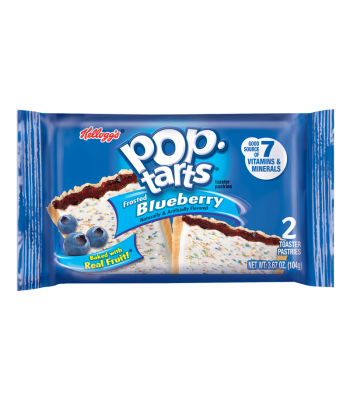Pop Tarts - Frosted Blueberry - Twin Pack - 3.67oz (104g) Toaster Pastries Pop Tarts