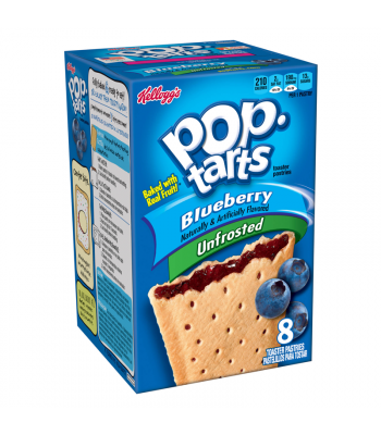Clearance Special - Pop Tarts Unfrosted Blueberry 8-Pack 14.7oz (416g) (Best Before: 20 Feb 2016)