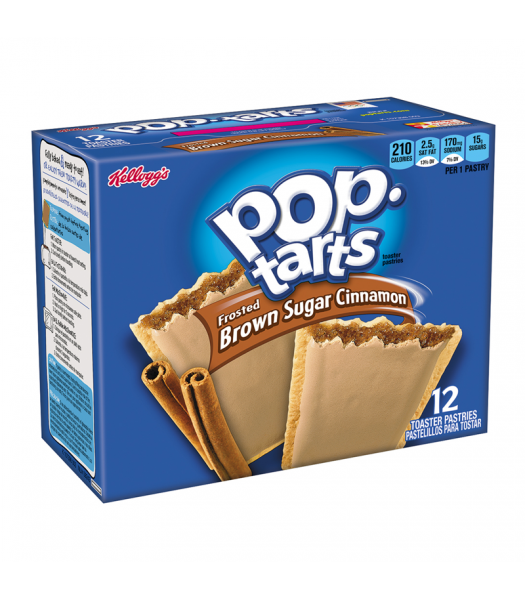 Pop Tarts - Frosted Brown Sugar Cinnamon 12-Pack (6 x 2 Toaster Pastries) - 21oz (595g) Toaster Pastries Pop Tarts