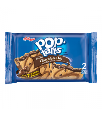 Pop Tarts - Frosted Chocolate Chip - Twin Pack - 3.67oz (104g) Toaster Pastries Pop Tarts