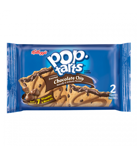Pop Tarts - Frosted Chocolate Chip - Twin Pack - 3.67oz (104g) Cookies and Cakes Pop Tarts