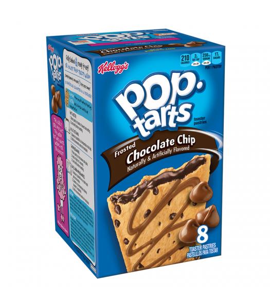 Pop Tarts - Chocolate Chip - 8 Pack 14.7oz (416g) Toaster Pastries Pop Tarts