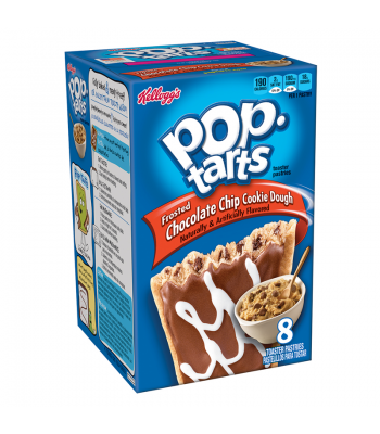Pop Tarts - Chocolate Chip Cookie Dough - 8 Pack 14.1oz (400g) Toaster Pastries Pop Tarts