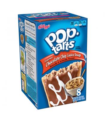 Pop Tarts - Chocolate Chip Cookie Dough - 8 Pack 14.1oz (400g) Toaster Pastries Pop Tarts