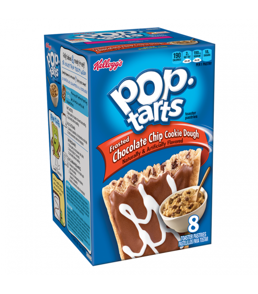 Pop Tarts - Frosted Chocolate Chip Cookie Dough - 8 Pack 14.1oz (400g) Cookies and Cakes Pop Tarts