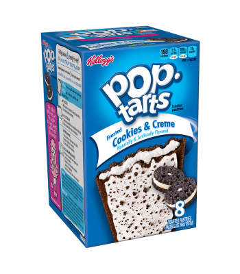 Pop Tarts - Frosted Cookies & Creme - 8 Pack 14.1oz (400g) Toaster Pastries Pop Tarts
