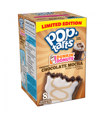 Pop Tarts - Limited Edition Dunkin' Donuts Frosted Chocolate Mocha - 8 Pack 14.1oz (400g) Toaster Pastries Pop Tarts