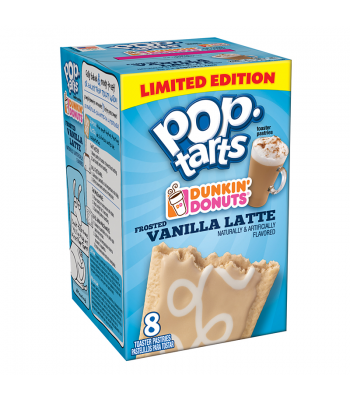 Pop Tarts - Limited Edition Dunkin' Donuts Frosted Vanilla Latte - 8 Pack 14.1oz (400g) Toaster Pastries Pop Tarts