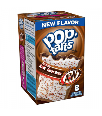 Pop Tarts - A&W Root Beer Flavour - 8 Pack - 14.1oz (400g) - [Limited Edition] Toaster Pastries Pop Tarts