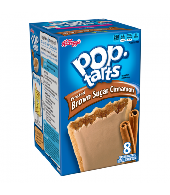 Pop Tarts Frosted Brown Sugar Cinnamon 8 Pack 14oz (397g) Toaster Pastries Pop Tarts