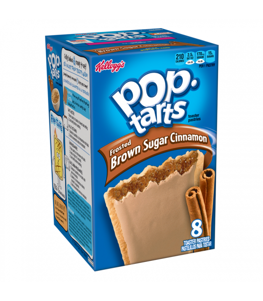 Pop Tarts Frosted Brown Sugar Cinnamon 8-Pack - 14oz (397g) Cookies and Cakes Pop Tarts