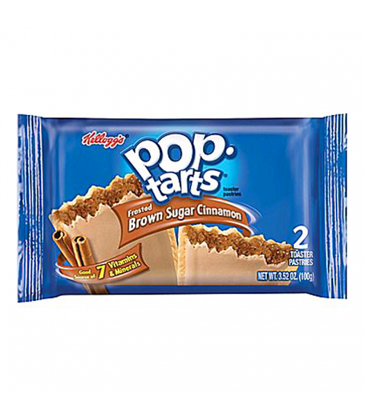 Pop Tarts - Frosted Brown Sugar Cinnamon - Twin Pack - 3.67oz (104g) Cookies and Cakes Pop Tarts