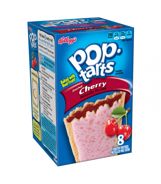 Pop Tarts - Frosted Cherry - 8 Pack 14.7oz (416g) Cookies and Cakes Pop Tarts