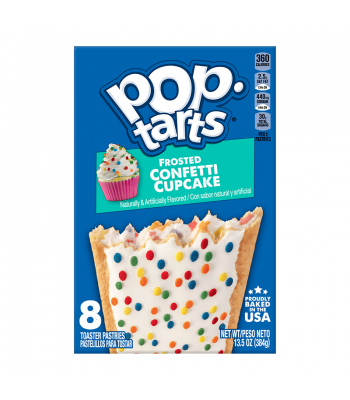 Clearance Special - Pop Tarts Frosted Confetti Cupcake 8-Pack 13.5oz (384g) **Slight Damage** Clearance Zone