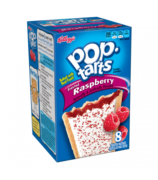 Pop Tarts Frosted Raspberry 8 Pack 14.7oz (416g) Toaster Pastries Pop Tarts