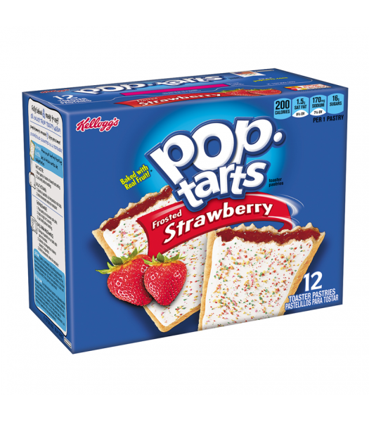 Pop Tarts - Frosted Strawberry 12-Pack (6 x 2 Toaster Pastries) 22oz (624g) Cookies and Cakes Pop Tarts