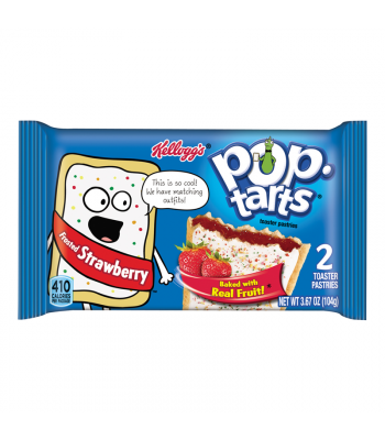 Pop Tarts - Frosted Strawberry - Twin Pack - 3.67oz (104g) Toaster Pastries Pop Tarts