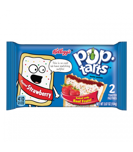 Pop Tarts - Frosted Strawberry - Twin Pack - 3.67oz (104g) Cookies and Cakes Pop Tarts