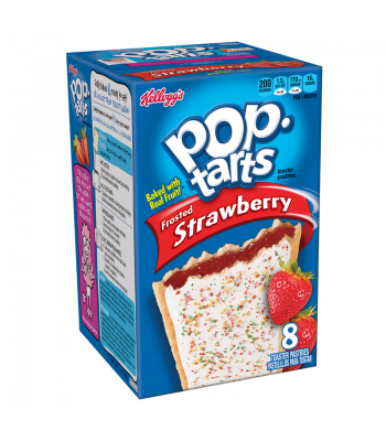 Pop Tarts Frosted Strawberry 8-Pack 14.7oz (416g) Toaster Pastries Pop Tarts