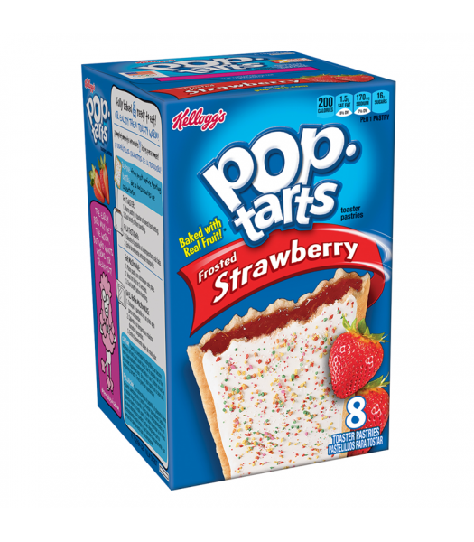 Pop Tarts Frosted Strawberry 8-Pack 14.7oz (416g) Cookies and Cakes Pop Tarts