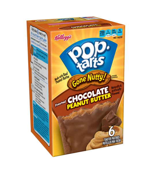 Pop Tarts Gone Nutty Chocolate Peanut Butter 6-Pack 10.5oz (300g) Cookies and Cakes Pop Tarts