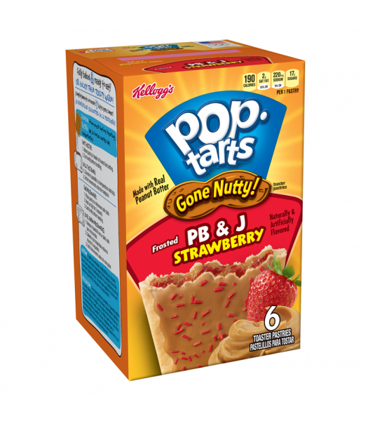 Clearance Special - Pop Tarts Gone Nutty! Peanut Butter & Jelly 10.5oz (300g) (Best Before: 14/15 September 2016) Clearance Zone