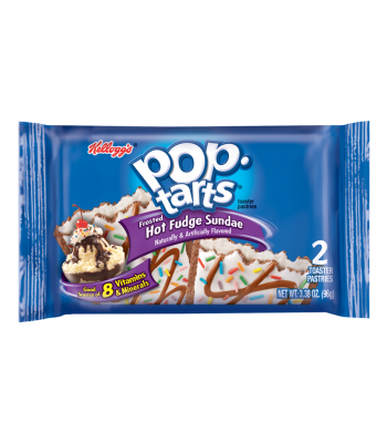 Pop Tarts - Hot Fudge Sundae - Twin Pack - 3.38oz (96g) Cookies and Cakes Pop Tarts