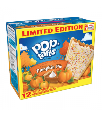 Pop Tarts- Limited Edition Frosted Pumpkin Pie 12-Pack (6 x 2 Toaster Pastries) - 21.1oz (600g) Cookies and Cakes Pop Tarts