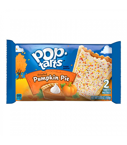 Pop Tarts - Limited Edition Frosted Pumpkin Pie - Twin Pack - 3.53oz (100g) Cookies and Cakes Pop Tarts