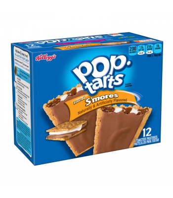 Pop Tarts - Frosted Smores 12-Pack (6 x 2 Toaster Pastries) - 22oz (624g) Toaster Pastries Pop Tarts