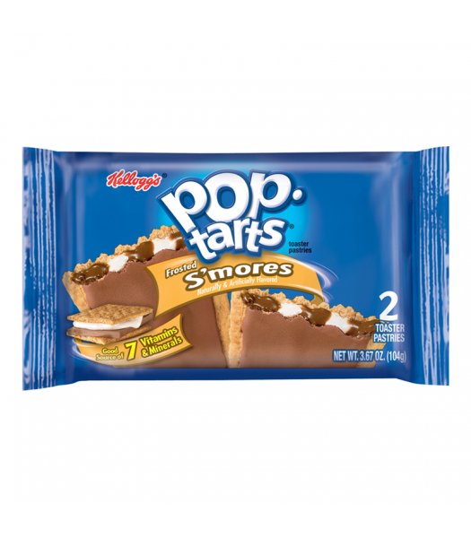 Pop Tarts - Frosted S'mores - Twin Pack - 3.67oz (104g) Toaster Pastries Pop Tarts