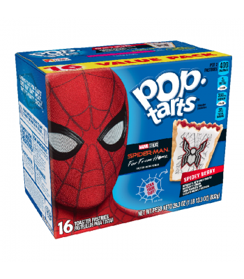 Pop Tarts - Spider Man Spidey Berry - 16-Pack - 29.3oz (832g) Cookies and Cakes Pop Tarts