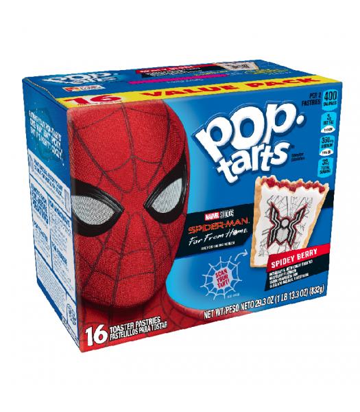 Pop Tarts - Spider Man Spidey Berry - 16-Pack - 29.3oz (832g) Cookies and Cakes Pop Tarts