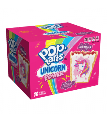 Pop Tarts - Unicorn Power Frosted Cherry - 16-Pack - 29.3oz (832g) Cookies and Cakes Pop Tarts