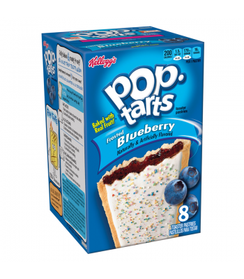 Pop Tarts Frosted Blueberry 8 Pack 14.7oz (416g) Toaster Pastries Pop Tarts