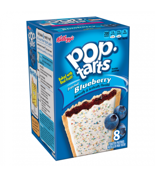 Pop Tarts Frosted Blueberry 8 Pack 14.7oz (416g) Cookies and Cakes Pop Tarts