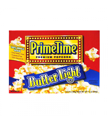PrimeTime Premium Popcorn Butter Light 7.2oz (204g) Snacks and Chips PrimeTime