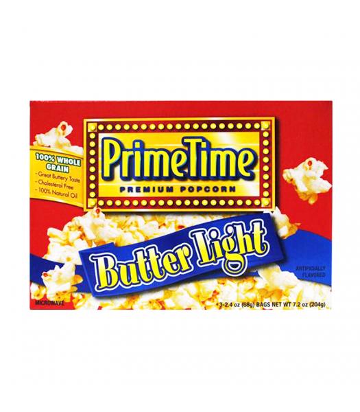 PrimeTime Premium Popcorn Butter Light 7.2oz (204g) Snacks and Chips PrimeTime