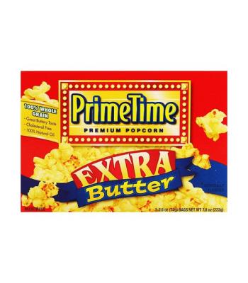 PrimeTime Premium Popcorn Extra Butter 7.8oz (222g) Popcorn