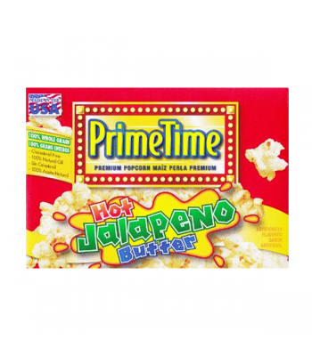 PrimeTime Premium Popcorn Jalapeno Butter 7.2oz (204g) Snacks and Chips PrimeTime