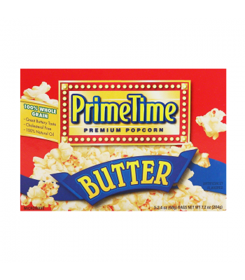 PrimeTime Premium Popcorn Butter 7.2oz (204g) Snacks and Chips PrimeTime