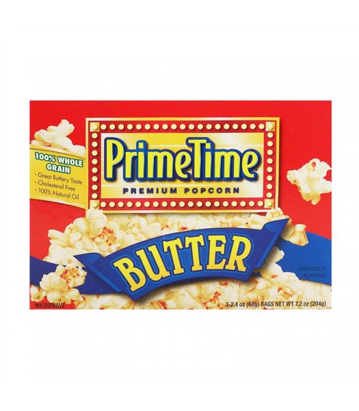 PrimeTime Premium Popcorn Butter 7.2oz (204g) Snacks and Chips PrimeTime
