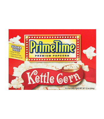 PrimeTime Premium Popcorn Kettle Corn 7.2oz (204g) Snacks and Chips PrimeTime