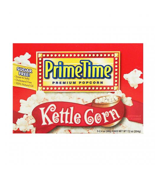 PrimeTime Premium Popcorn Kettle Corn 7.2oz (204g) Snacks and Chips PrimeTime