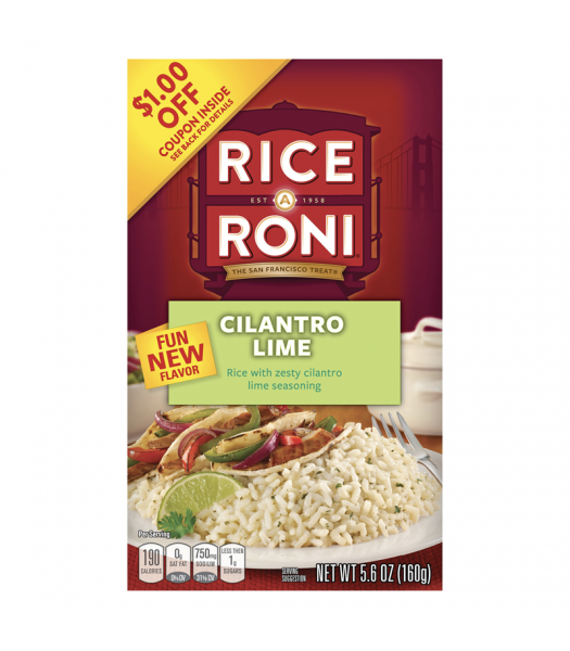 Rice-A-Roni Cilantro Lime 5.6oz (160g) Food and Groceries Rice-A-Roni