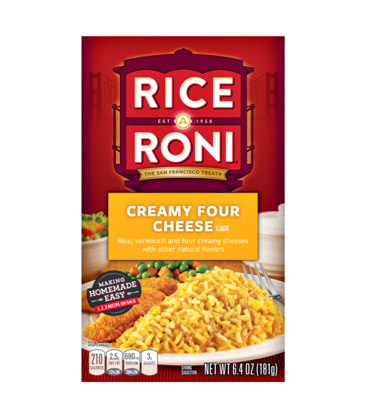Rice-A-Roni Creamy Four Cheese 6.4oz (181g) Food and Groceries Rice-A-Roni