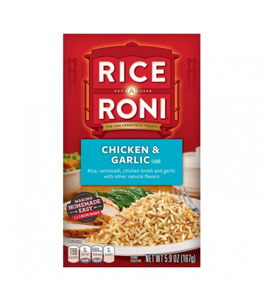Rice-A-Roni Chicken & Garlic 5.9oz (167g) Food and Groceries Rice-A-Roni