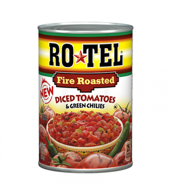 Rotel Fire Roasted Diced Tomatoes & Green Chilies 10oz (283g) Food and Groceries